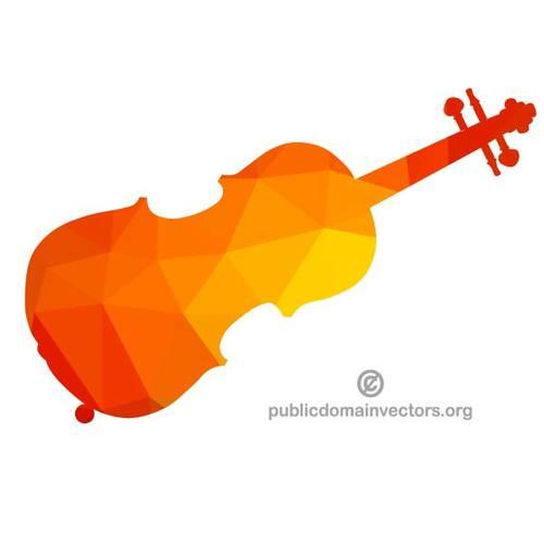 500x500 Color Silhouette Of A Violin Public Domain Vectors