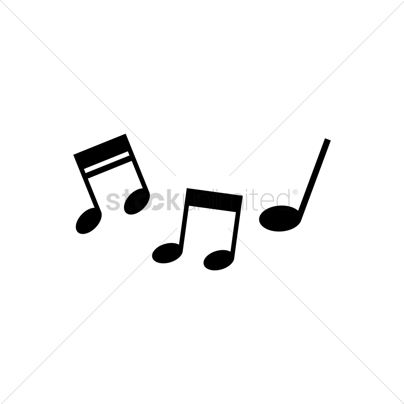 1300x1300 Free Silhouette Of Musical Notes Vector Image