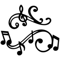 236x236 Musical Heart Silhouette Design, Silhouettes And Store