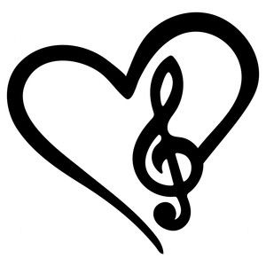 300x300 Musical Love Silhouette Design, Silhouettes And Store