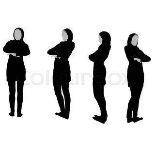 320x320 Eps 10 Vector Illustration Of Muslim Woman Silhouette In Pray Pose