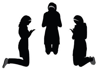 323x240 Muslim Woman Silhouette In Pray Pose