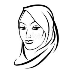 240x240 Beautiful Arab Muslim Woman Silhouette Muslim
