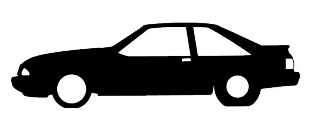 649x248 Fox Body Mustang Silhouette Shot On Cars
