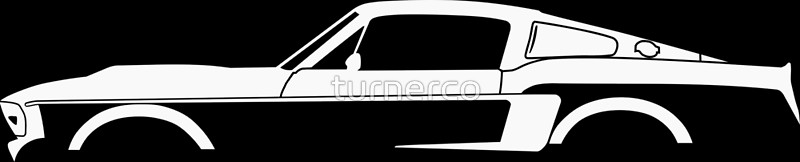 800x162 Car Silhouette For 1967 Shelby Mustang Gt500 Eleanor Enthusiasts