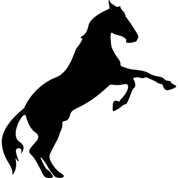 626x626 Horse Raising Feet Silhouette Icons Free Download