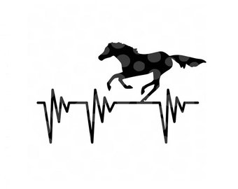 340x270 Horse Silhouette Etsy