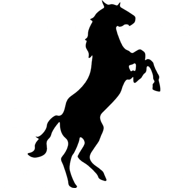 626x626 Standing Horse Silhouette Variant Facing The Right Icons Free