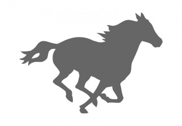Mustang Horse Silhouette At Getdrawings Free For Personal Use