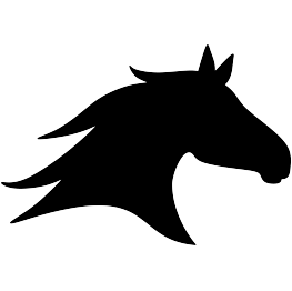 263x262 Horse Head Silhouette Applique Horse Head