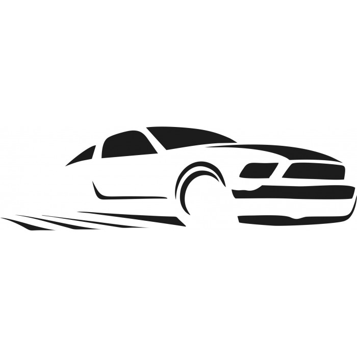 700x700 Ford Mustang Silhouette