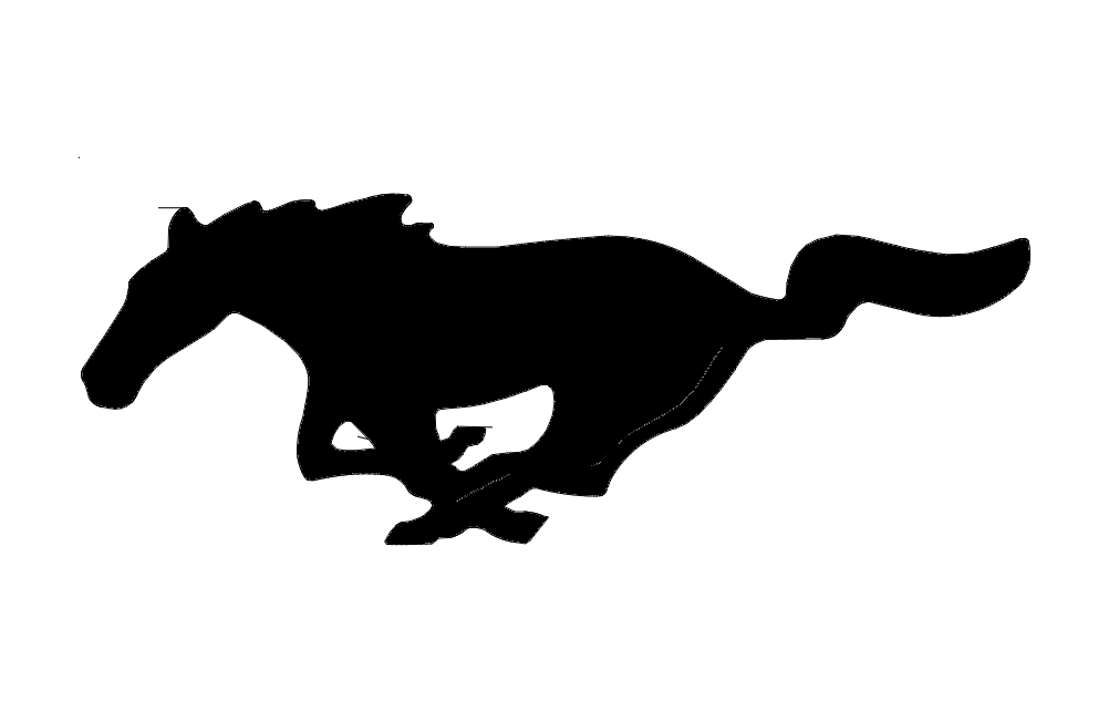 1002x633 Mustang Horse Outline Dxf File Free Download