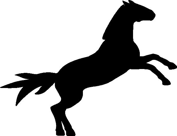 600x459 Mustang Silhoette Clip Art