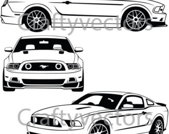 340x270 Mustang Wall Decal Etsy