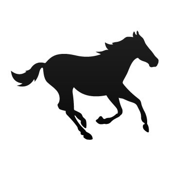 350x350 Running Mustang Horse Silhouette Shot On Cars