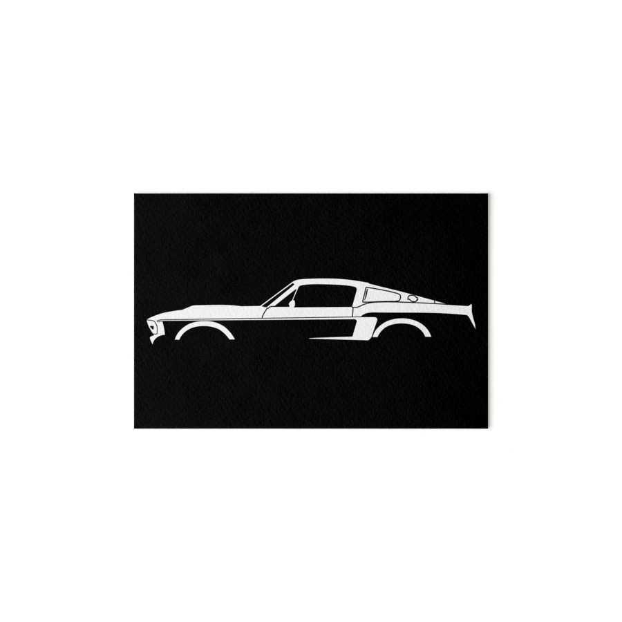 900x900 Car Silhouette For 1967 Shelby Mustang Gt500 Eleanor Enthusiasts