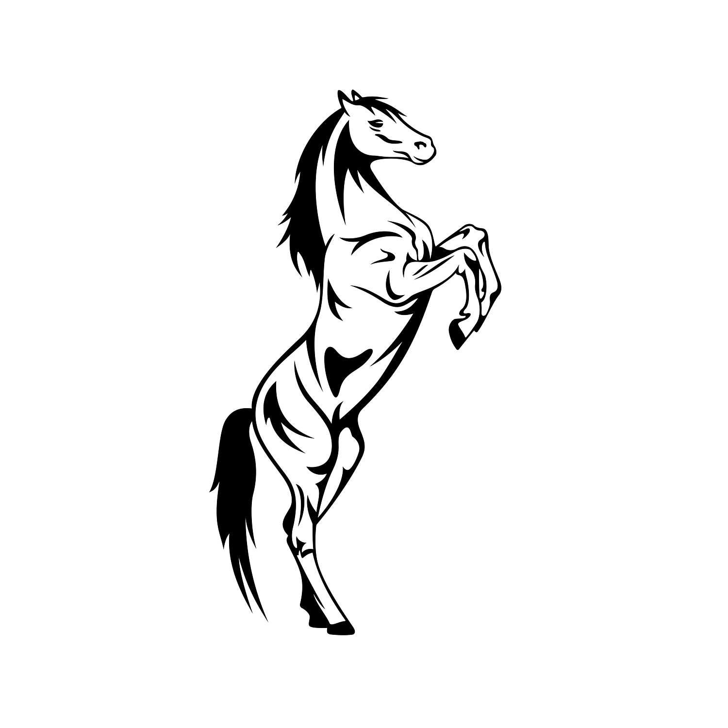 1500x1500 Horse Graphics Svg Dxf Eps Png Cdr Ai Pdf Vector Art Clipart