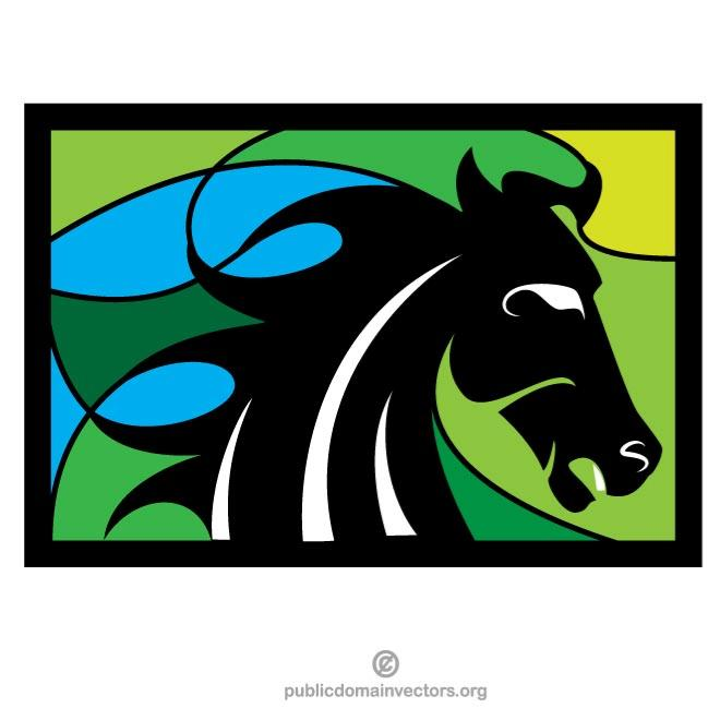 660x660 Mustang Horse Silhouette