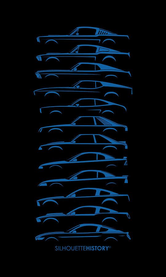 540x900 Complete Ford Mustang Silhouettehistory Silhouettehistory