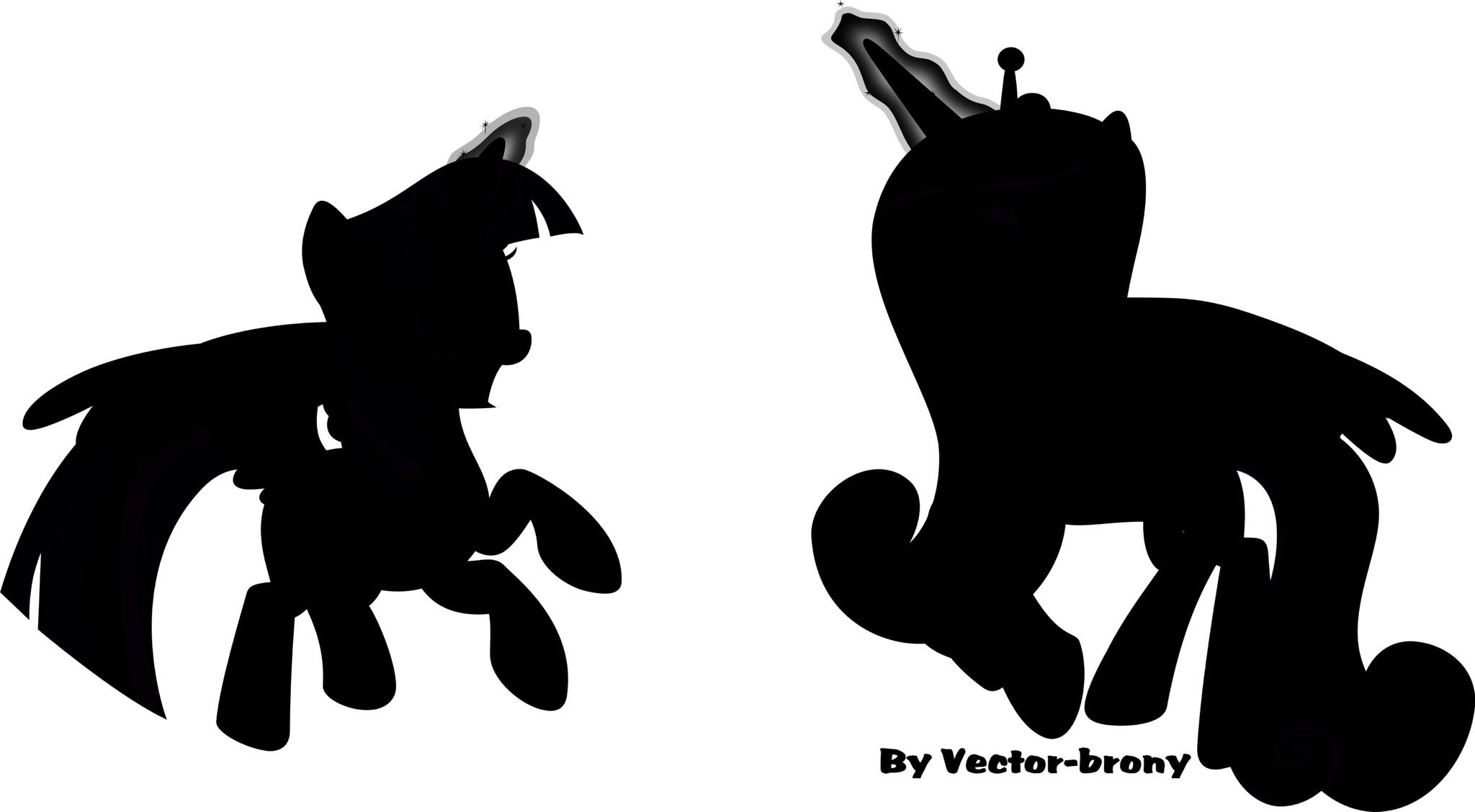 2048x1128 My Little Pony Silhouette Photos Pony And Silhouette