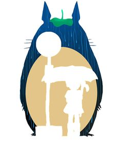236x314 Totoro Silhouette' Sticker By Gingerbredmanny Totoro