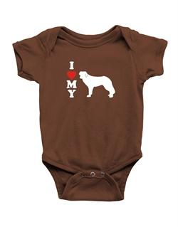 250x319 I Love My English Shepherd Dog Silhouette Ringer T Shirt