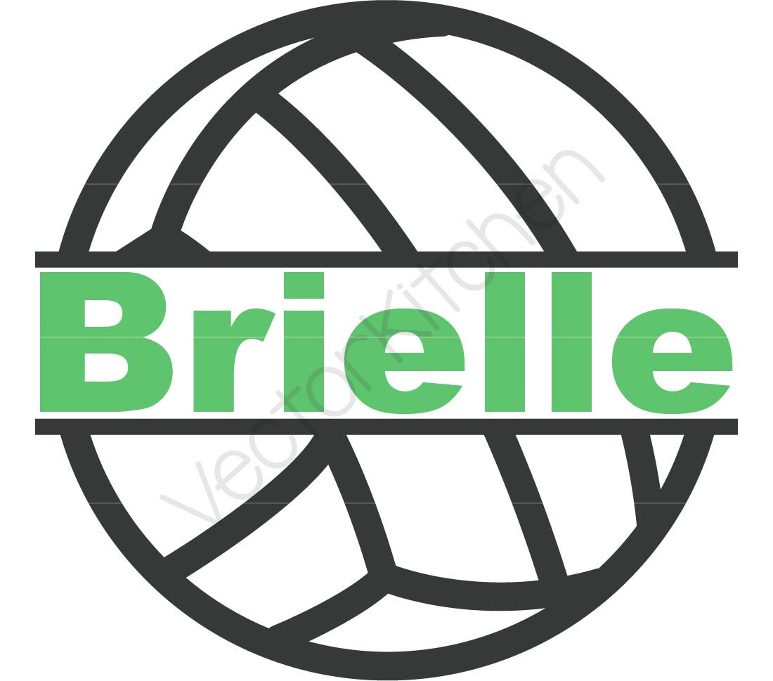1100x969 Split Volleyball Frame For Name Monogram Just Spike It