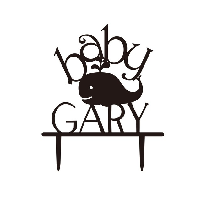 640x640 Unique Baby Shower Cake Topper, Silhouette With Your Last Name