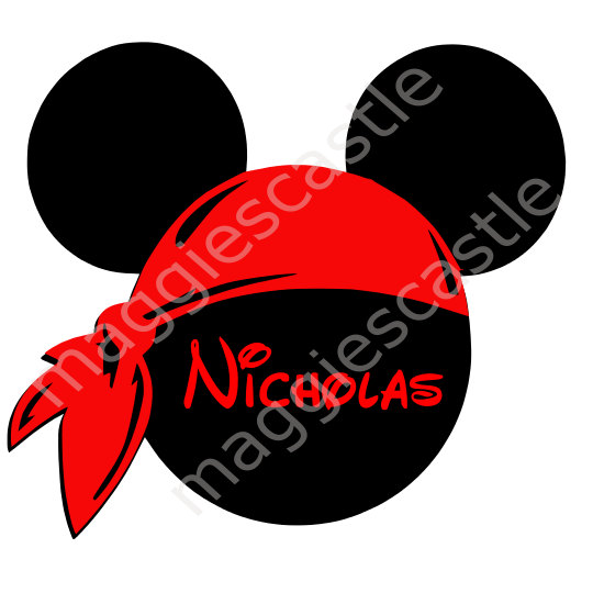 540x540 Vinyl Decal Diy Iron On Mickey Silhouette Bandana