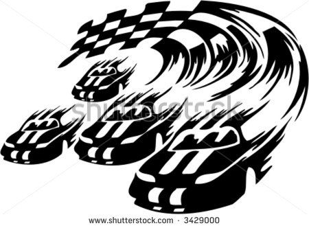 450x332 Vector Auto Racing Graphics On Racing Car Ready For Vinyl Cutting