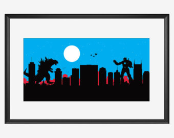 340x270 Baltimore Skyline Print The Fight Club Inspired Poster