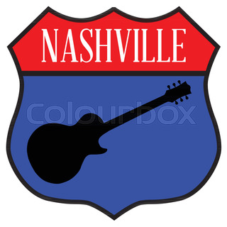 320x320 Nashville, Tennessee Skyline Detailed Vector Silhouette Stock