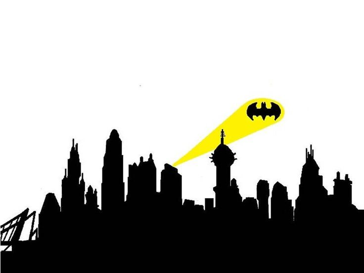 736x552 Batman Clipart Skyline