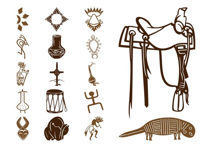 700x490 Native American Symbols Set