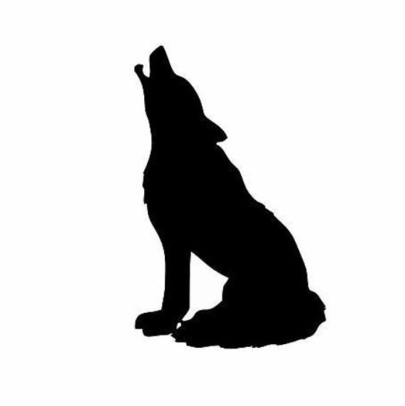 570x571 Wolf Sitting Decal Indian Decal Indian Decor Wolf Decor