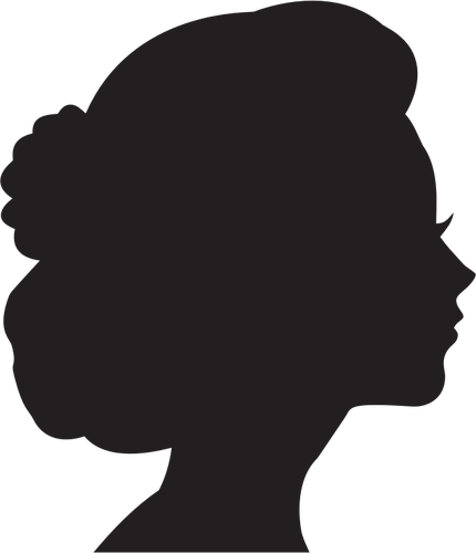 430x500 Female Head Profile Silhouette Image Public Domain Vectors