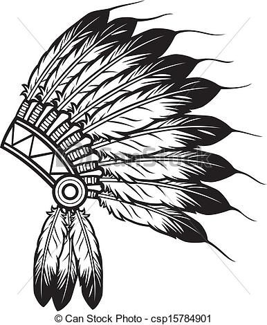 386x470 Vector Clipart Of Indian Chief Headdress