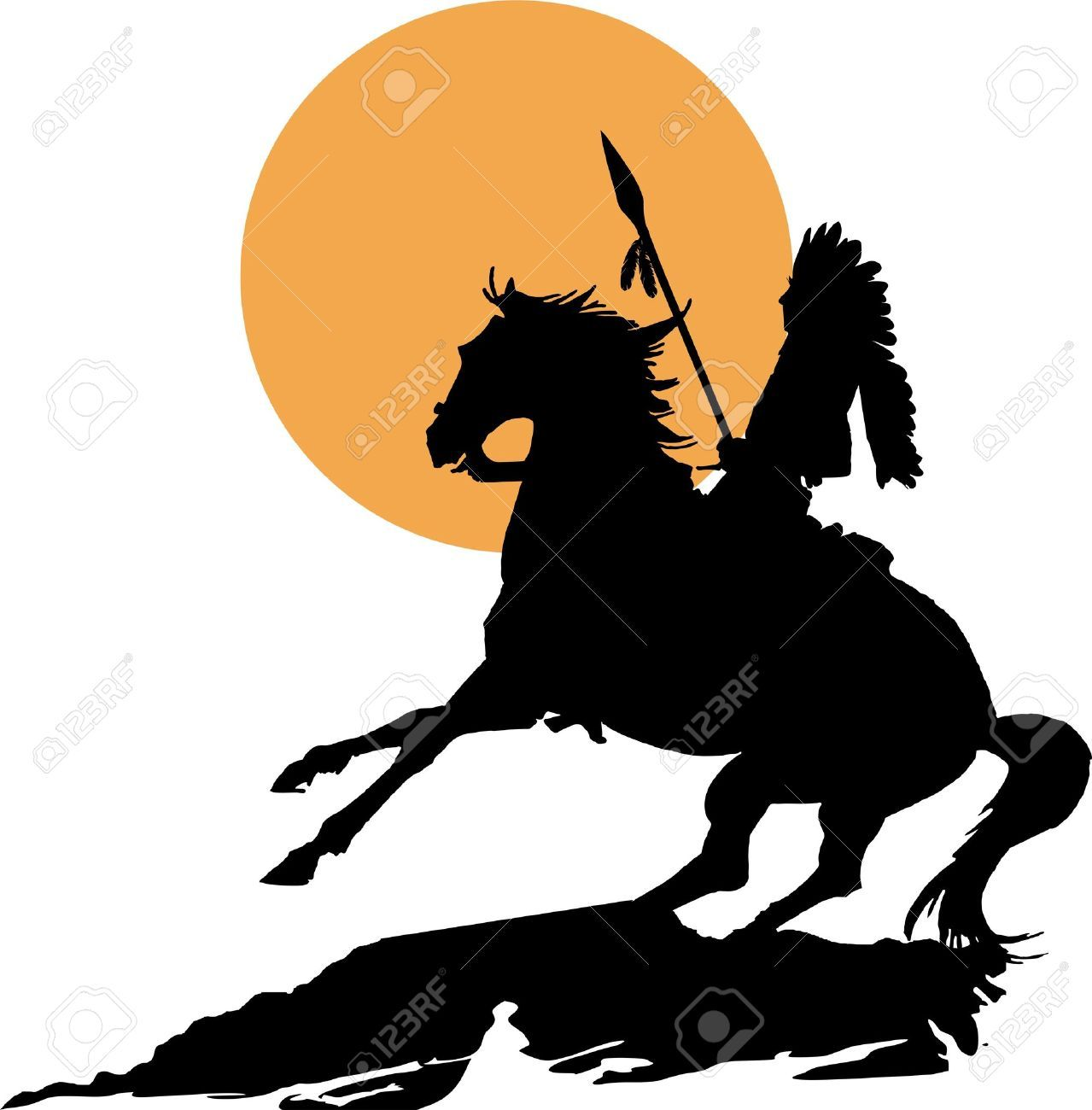 1279x1300 Native American On Horseback Native Indian Horse Silhouette