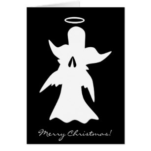 307x307 Christmas Angel Silhouette Cards