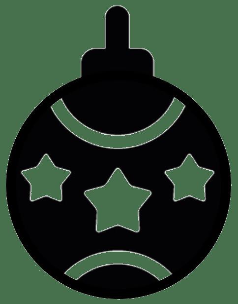 484x616 Christmas Silhouette Window Decorations