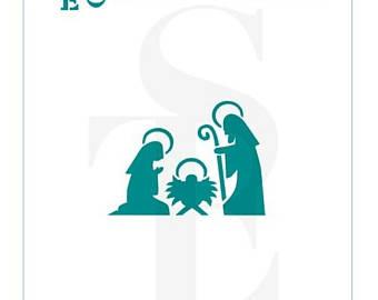 340x270 Nativity Stencils Etsy
