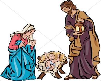 388x314 Nativity Silhouette Clip Art