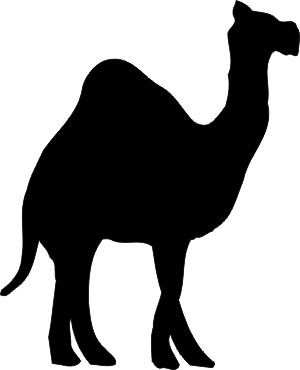 300x370 Clipart Camel Silhouette