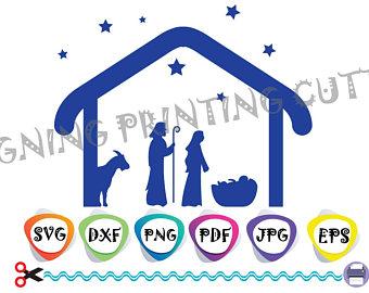 340x270 Nativity Svg Etsy