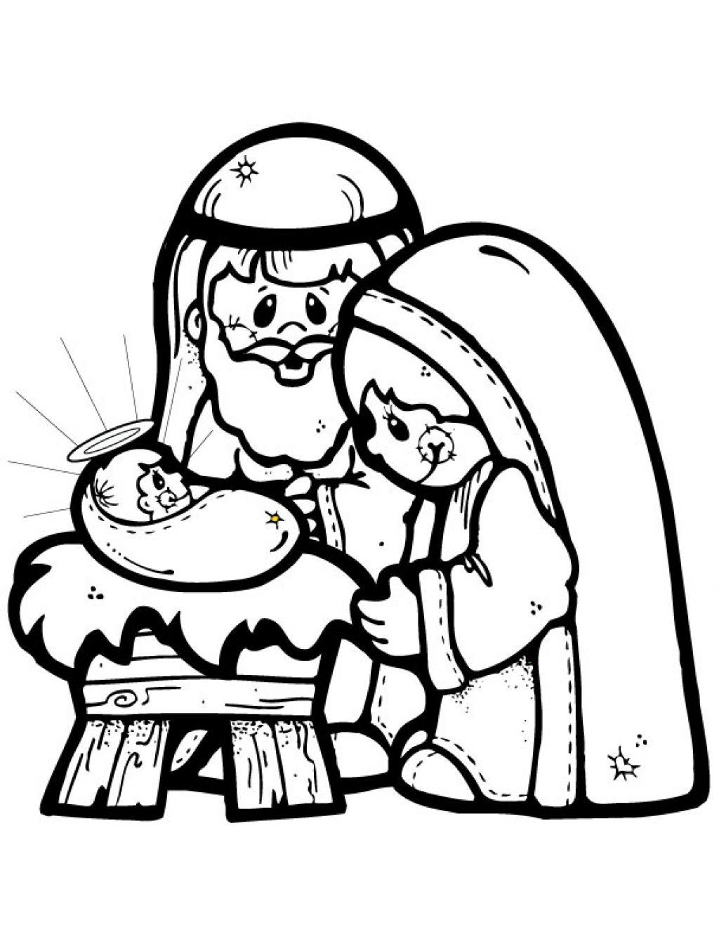 1024x1327 Black White Nativity Scene Clipart