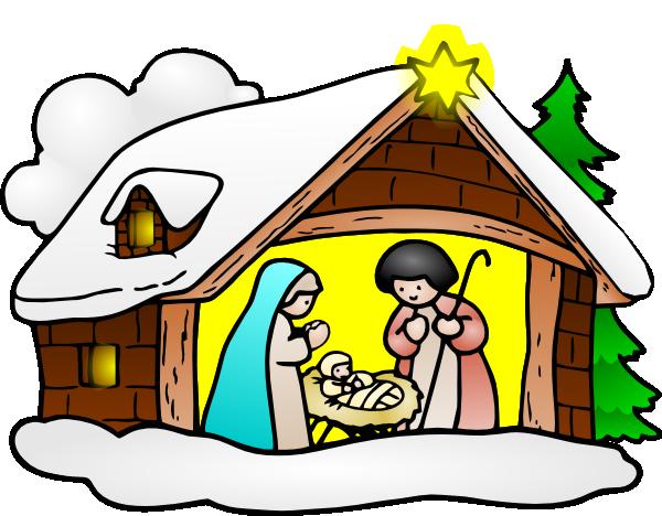 600x468 Christmas Nativity Scene Clipart