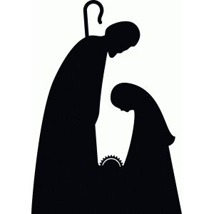 Nativity Scene Silhouette