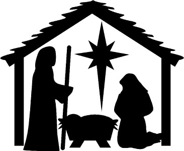 366x299 Best Photos Of Nativity Clip Art Free Printable