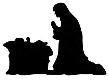 Nativity Scene Silhouette Free