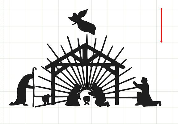 576x402 Nativity Silhouettes Clip Art